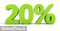اعلام عرضه بلوک ۲۰ درصدی