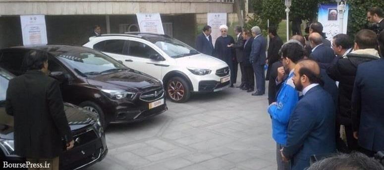 روحانی و اعضا هیات دولت ۴ محصول جدید ایران خودرو و سایپا را رونمایی کردند