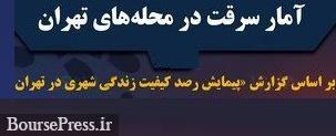 کمترین و بیشترین زورگیری ، سرقت از منزل و خودرو در مناطق مختلف تهران