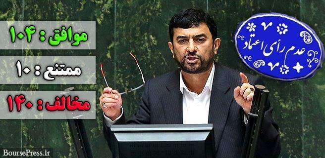 نتیجه اولین رای مجلس یازدهم به وزیر پیشنهادی دولت : مدرس خیابانی تایید نشد