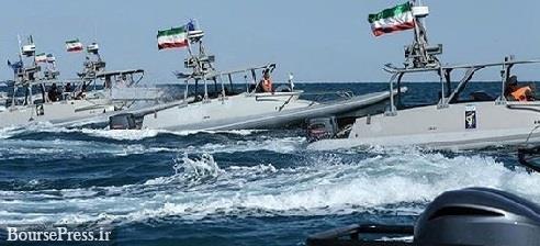 زمان رزمایش نظامی سپاه پاسداران در خلیج فارس با ۲۰۰ شناور جنگی