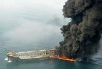 نگرانی چین از اثرات زیست محیطی غرق نفتکش سانچی
