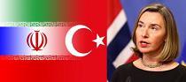 دیدار وزیران خارجه ایران، روسیه و ترکیه + گفت و گوی موگرینی با وزیر خارجه آمریکا