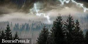 ادامه باران ، رگبار ، رعد و برق و وزش باد شدید + کاهش ۸ تا ۱۲ درجه ای دما