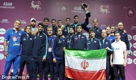 پهلوانان کشتی آزاد ایران با حمایت همراه اول قهرمان آسیا شدند